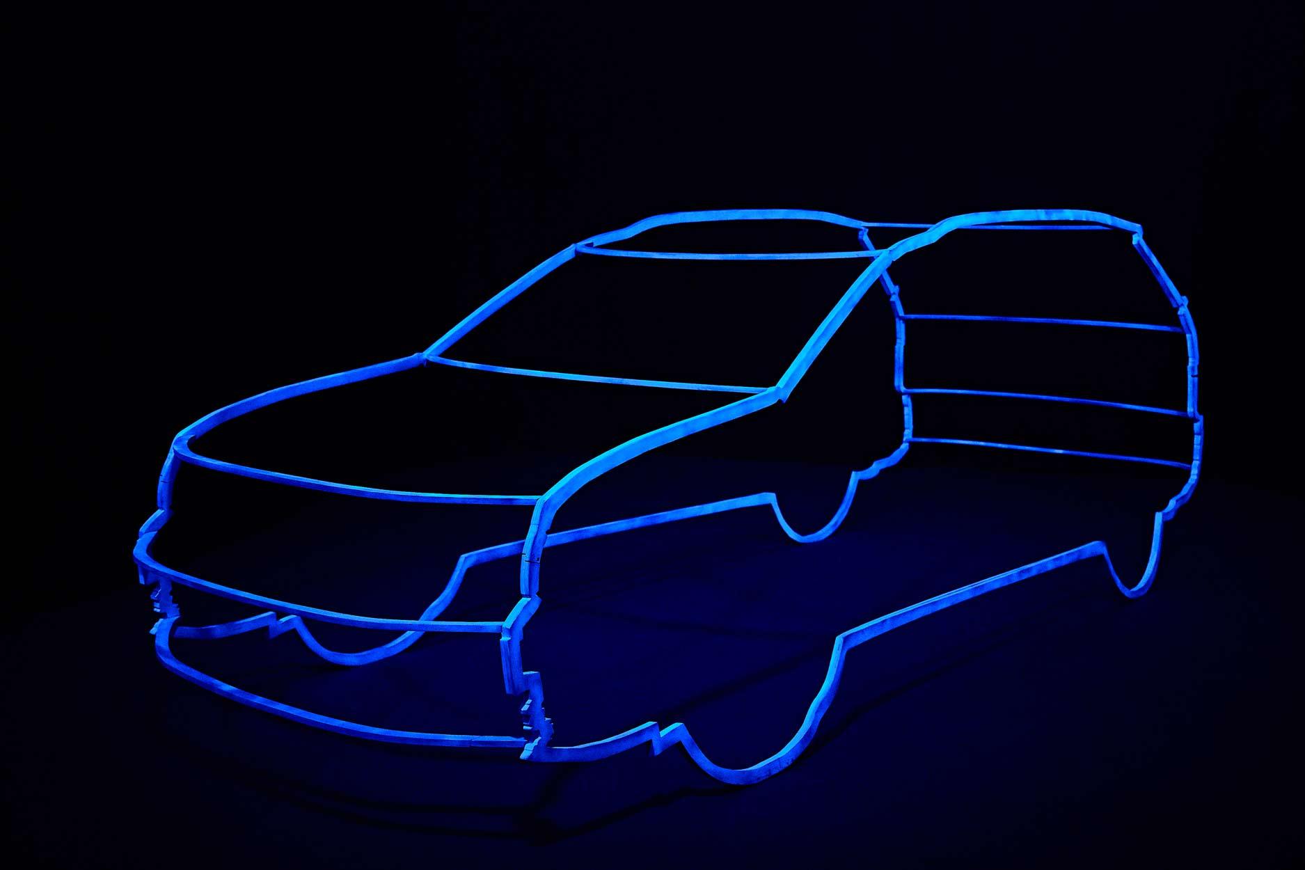 3D-модель нового Volkswagen Tiguan в реальном размере.